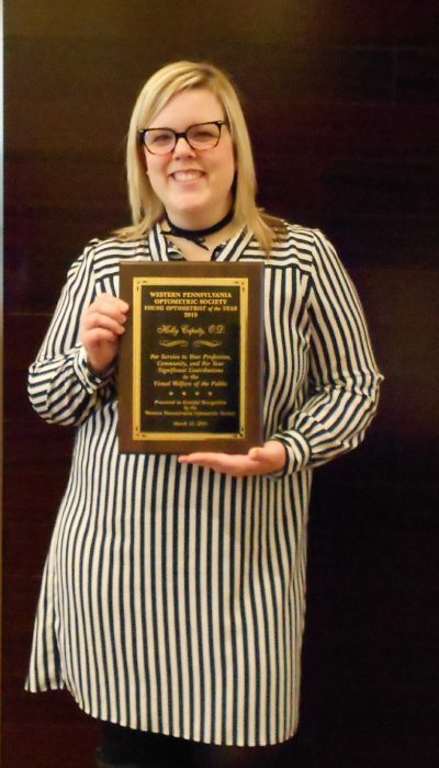 Dr. Holly with her award