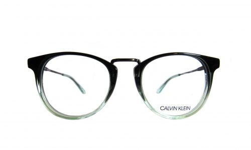 Calvin Klein - Clear green and black round