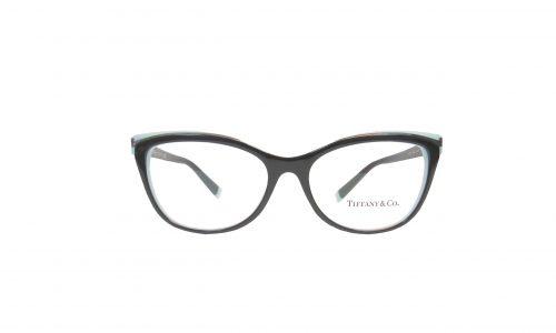Tiffany & Co. blk & blue round cat eye